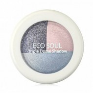 Тени для век тройные THE SAEM Eco Soul Triple Dome Shadow BL01 Mutual Love Blue 6,5гр