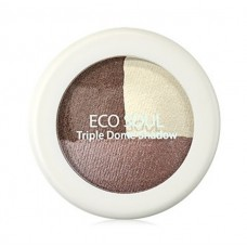 Тени для век тройные THE SAEM Eco Soul Triple Dome Shadow BR01Accomplished Brown 6,5гр