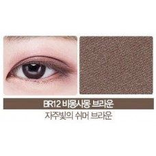 Тени для век мерцающие THE SAEM Saemmul Single Shadow (Shimmer) BR12 2гр
