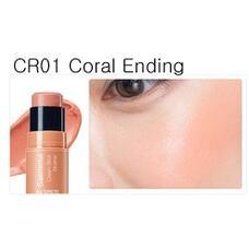 Румяна кремовые THE SAEM Saemmul Cream Stick Blusher CR01 Coral Ending 8гр