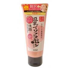 Sana MOISTURE CLEANSING WASH / Пенка для умывания и снятия макияжа увлажняющая с изофлавонами сои и капсулированным коэнзимом Q10 SOY MILK