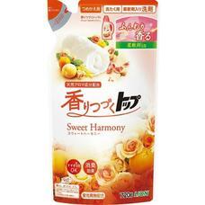 LION Top Sweet Harmony Жидкое средство для стирки белья с нежным ароматом цветов и фруктов мягкая упаковка 720 г