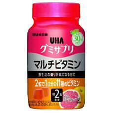 UHA Gummy Supple Multivitamin жевательные мультивитамины с коллагеном со вкусом розового грейпфрута № 60