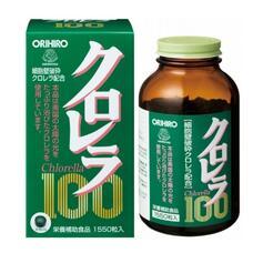 Высокоочищенная хлорелла с витаминами группы В Orihiro Chlorella № 1550