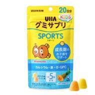 Вкусные жевательные витамины с соком манго и ананаса с кальцием и железом UHA Kids Sports № 100