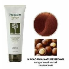 Гель-маникюр для волос (натур-коричн.) GAIN COSMETIC Haken Premium Pearll Pure Gel Color-Macadamia Nature Brown 220 гр