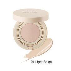 Основа тональная 01 THE SAEM Eco Soul Bounce Cream Foundation 01 Light Beige (N) 15 гр
