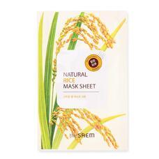 Маска тканевая с экстрактом риса THE SAEM (NEW) Natural Rice Mask Sheet 21мл