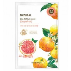Маска тканевая грейпфрут THE SAEM Natural Skin Fit Mask Sheet Grapefruit 20 мл