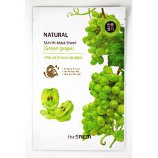 Маска тканевая виноград THE SAEM Natural Skin Fit Mask Sheet green grape 20 мл