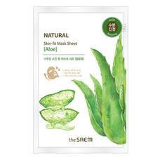 Маска тканевая алоэ THE SAEM Natural Skin Fit Mask Sheet Aloe 20 мл