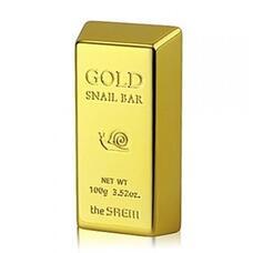 Мыло для умывания с экстрактом золота, муцина улитки, оливы THE SAEM Gold Snail Bar 100 гр