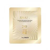 Маска для лица улиточная гелевая THE SAEM Snail Essential 24K Gold Gel Mask Sheet 30 гр