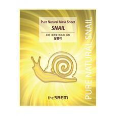 Маска тканевая с муцином улитки THE SAEM Pure Natural  Mask Sheet Snail 20 мл