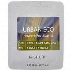 Эссенция с экстрактом корня новозеландского льна пробник THE SAEM (Sample) Urban Eco Harakeke Root Essence 2мл