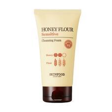 Пенка для умывания с экстрактом меда SKINFOOD Honey Flour Moist Cleansing Foam (Sensitive) 150 мл