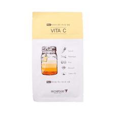 Маска для лица тканевая SKINFOOD Boosting Juice 2-step Mask Sheet VITA C 23 мл