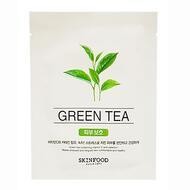 Маска для лица тканевая SKINFOOD Beauty in a Food Mask Sheet, Green Tea 18мл