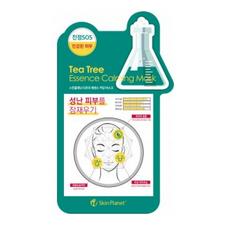 Маска для лица тканевая чайное дерево MIJIN Skin Planet Tea Tree Essence Calming Mask 26 гр