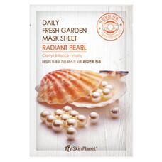 Маска для лица тканевая жемчуг MIJIN Skin Planet daily fresh garden mask sheet RADIANT PEARL 25 гр
