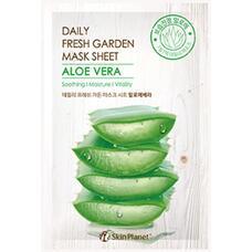 Маска для лица тканевая алое MIJIN Skin Planet daily fresh garden mask sheet ALOE VERA 25 гр