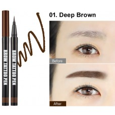 Ручка-татту для бровей BERRISOM Brow Tattoo Pen - Deep Brown 0,5гр