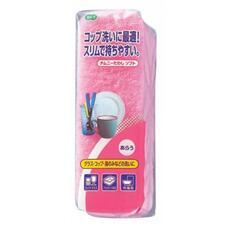 Губка для мытья посуды двухслойная, узкая, верхний слой сред. жесткости OHE 1шт/упак