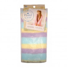Мочалка для тела с добавлением хлопка OHE Радуга мягкая голубая