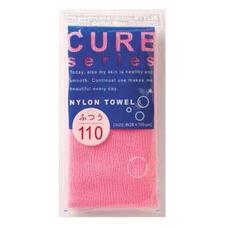 Мочалка для тела средней жесткости OHE розовая