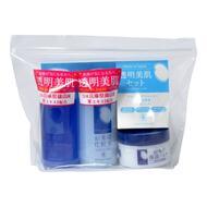 Дорожный набор средств с экстрактом риса MOMOTANI Rice Moisture (очищающий и увл. лосьоны и увл. крем) 58мл*2, 30г*1