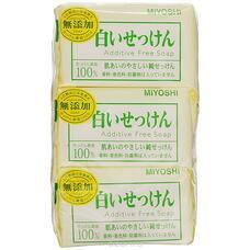 Туалетное мыло MIYOSHI на основе натуральных компонентов 108г x 3p