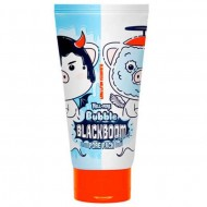 Маска кислородная для очищения пор ELIZAVECCA Hell-Pore Bubble blackboom pore pack 150 мл