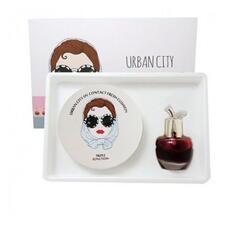 Набор Кушон + Тинт Urban City UV Contact Cover Cushion #23 NATURAL BEIGE SPF50+ PA+++  (Urban City Bloom Rose Lip&Cheek #REDPIANO ROSE) 13 гр