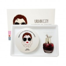 Набор Кушон + Тинт Urban City UV Contact Cover Cushion #21 LIGHT BEIGE SPF50+ PA+++ (Urban City Bloom Rose Lip&Cheek #REDPIANO ROSE) 13гр