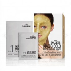 Маска для лица гелевая с золотом Urban Dollkiss Magic Gold  Modeling Gel Mask 50гр/5гр