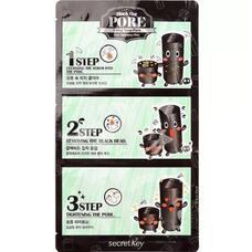 Набор патчей для удаления черных точек SECRET KEY Black Out Pore 3 Step Nose Pack 7 гр
