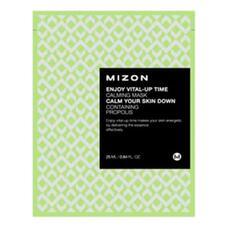 Маска листовая для лица успокаивающая MIZON ENJOY VITAL-UP TIME CALMING MASK 25 мл