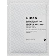 Маска листовая для лица  осветляющая с экстрактом лимона MIZON ENJOY VITAL-UP TIME TONE UP MASK 25 мл