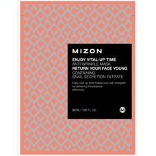 Маска листовая для лица антивозрастная MIZON ENJOY VITAL-UP TIME ANTI WRINKLE MASK 30 мл