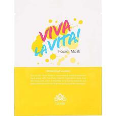 Маска для лица тканевая осветляющая LIOELE Viva La Vita Facial Mask 25 гр