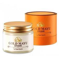 Крем для лица с лошадиным жиром BERRISOM Gold Mayu Cream 70 гр
