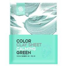 Маска для лица глиняная листовая BERRISOM G9 SKIN COLOR CLAY SHEET CALMING GREEN 20 гр