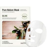 Маска для лица тканевая ANSKIN Secriss Pure Nature Mask Pack Olive 25 мл