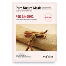 Маска для лица тканевая ANSKIN Secriss Pure Nature Mask Pack Red ginseng 25 мл