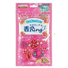 Детские браслеты от насекомых и комаров KINCHO с ароматом розы 30 штук