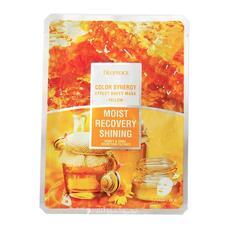 Маска тканевая на основе фильтрата улитки и мёда DEOPROCE COLOR SYNERGY EFFECT SHEET MASK YELLOW 20 гр