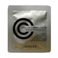 Крем СС пробник DEOPROCE COLOR COMBO CREAM(CC CREAM) #21 (POUCH) 1 гр