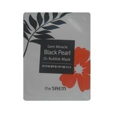 Маска кислородная с экстрактом жемчуга пробник THE SAEM Gem Miracle Black Pearl O2 Bubble Mask-Sample(Pouch) 3 мл