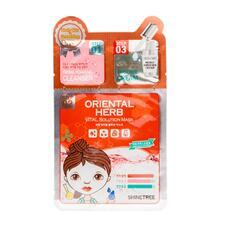 3-Ступенчатая система для лица SHINETREE питательная с восточными травами (пенка, маска, крем) 1,5 мл+1,5 мл+25 мл