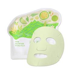 Маска для лица тканевая осветляющая Ciracle Jeju Citrus Sudachi Whitening Mask 21гр